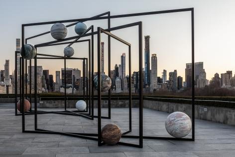 Installation view: Alicja Kwade,ParaPivot, 2019, © The Metropolitan Museum of Art, photo by Hyla Skopitz