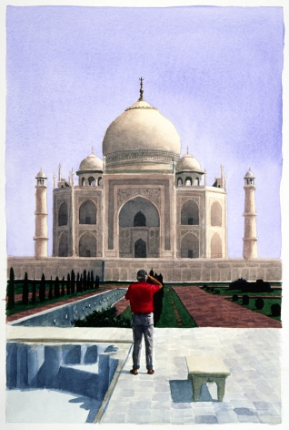 Tim Gardner, Untitled (Jim photographing Taj Mahal), 1999