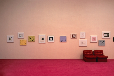 Sue Williams, Installation view: Art for the Institution and the Home, Secession, Vienna, 2002