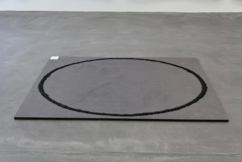 Kim Gordon, Black Glitter Circle, 2008