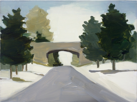 Maureen Gallace, Merritt Parkway, Winter, 2002