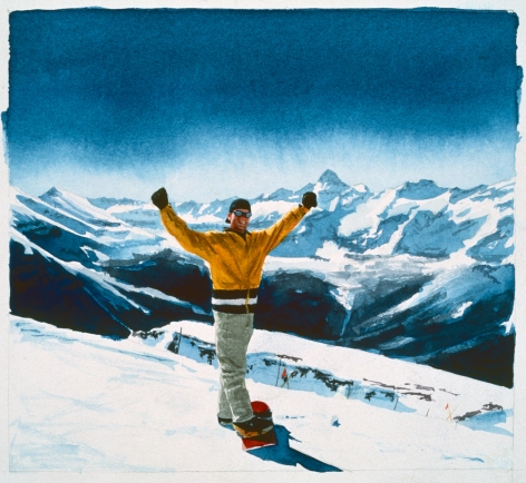 Tim Gardner, Untitled (Bryan with Mt. Assiniboine), 1999