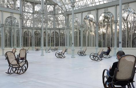 Dominique Gonzalez-Foerster, Splendide Hotel, Palacio de Cristal, Parque del Retiro, Madrid, 2014