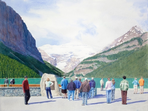 Tim Gardner, Tourists at Lake Louise, 2009
