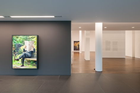 Installation view: Rodney Graham, Lightboxes, Museum Frieder Burda, Baden-Baden, 2017