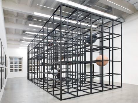 Installation view: Alicja Kwade, LinienLand, Haus Konstruktiv, Zurich, 2018. Photo: Roman März