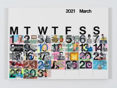 Rob Pruitt, Studio Calendar (March 2021)