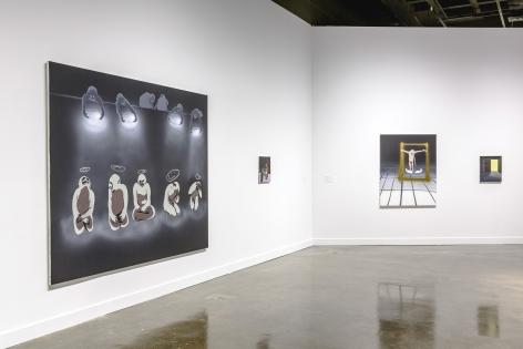 Installation view: Tala Madani: First Light, MIT List Visual Arts Center, 2016