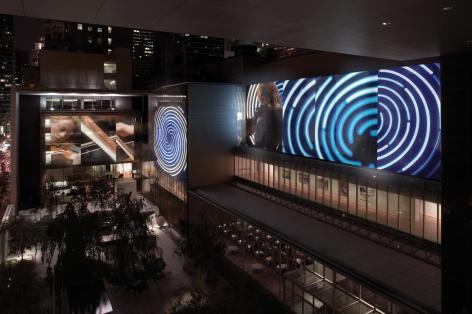 Doug Aitken, sleepwalkers, 2007, MoMA, New York