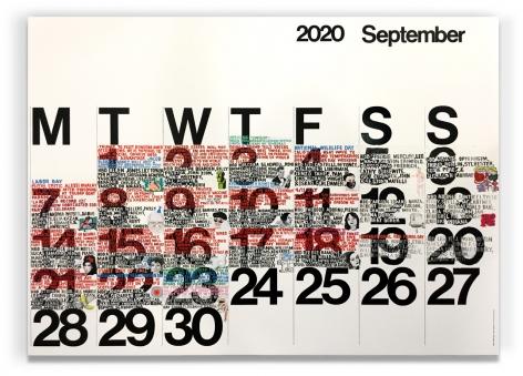 Rob Pruitt, September 2020 Calendar Painting (In Progress)