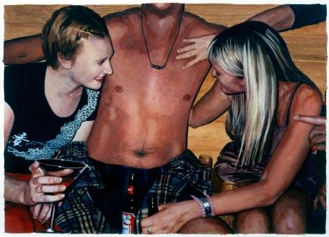 Tim Gardner, Untitled (Guy with Girls), 2002
