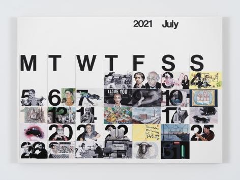 Rob Pruitt, Studio Calendar (July 2021)