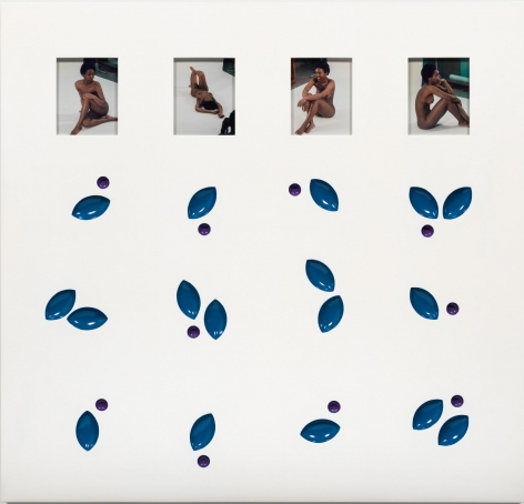 Elad Lassry, Untitled (Panel, Blue, Purple), 2015