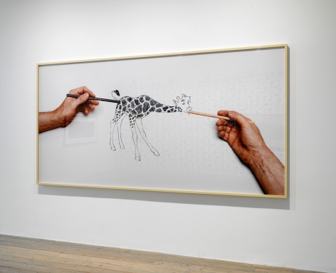 Larry Johnson, Untitled (Raven Row Giraffe), 2015