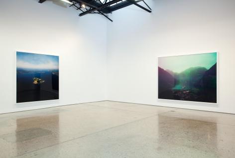 Florian Maier-Aichen, Installation at 303 Gallery, 2011