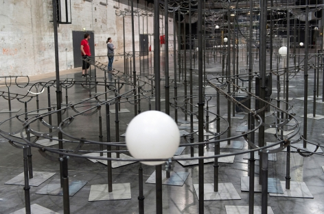 Jeppe Hein, DISTANCE - LIFE, Installation view, Saint-Nazaire, France, 2014