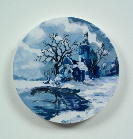 Karen Kilimnik, hiding out in the cold winter polish countryside, the old country, 2013