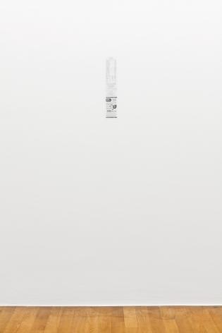 Ceal Floyer, Monochrome Till Receipt, Installation view: Kunstmuseum Bonn, 2015