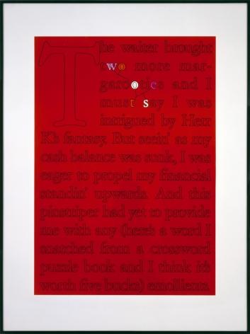Larry Johnson, Untitled (Five Buck Word), 1989