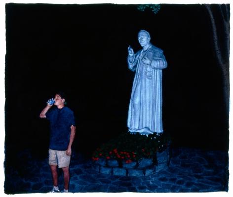 Tim Gardner, Untitled (Bhoadie with St. Alphonsus statue), 1999