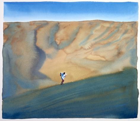 Tim Gardner, Untitled (Bhoadie running on dunes: Africa), 1999
