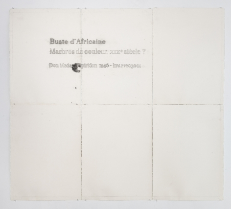 Esteban Jefferson, Buste d'Africaine