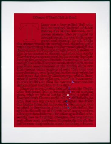 Larry Johnson, Untitled (I Swear I Won't Tell a Soul. Who Would I Tell?), 1989