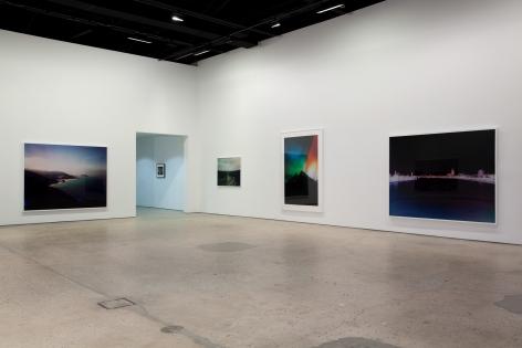Florian Maier-Aichen, Installation view: 303 Gallery, New York, 2009