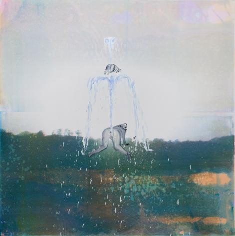 Tala Madani, Two Fountains, 2018