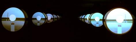 Doug Aitken, on, 2002, Installation view: 303 Gallery, 2002