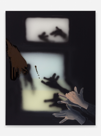Tala Madani, Shadow Projection (Animal Hands) 1, 2018