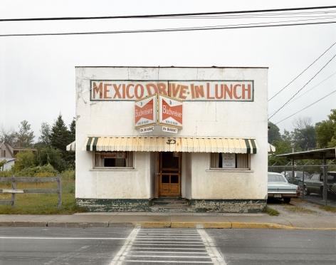 Stephen Shore, Bridge Street, Mexico, Maine, July 30, 1974