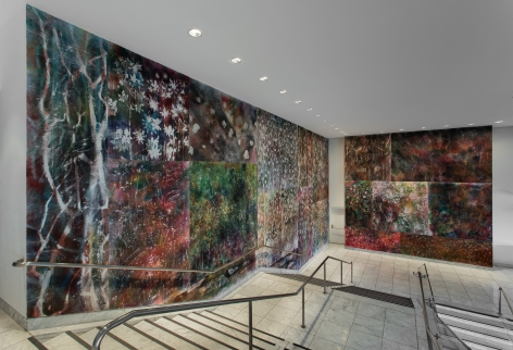 Installation view: Hammer Projects: Sam Falls, Hammer Museum, Los Angeles, 2017