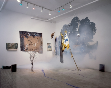 Karen Kilimnik, Battles, or the Art of War, 1991, Installation view: 303 Gallery, New York, 1991