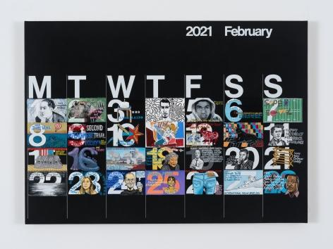 Rob Pruitt, Studio Calendar (February 2021)