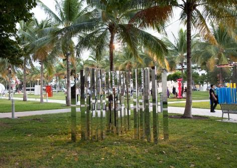 Jeppe Hein, Mirror Angle Fragments (3x60°), 2014