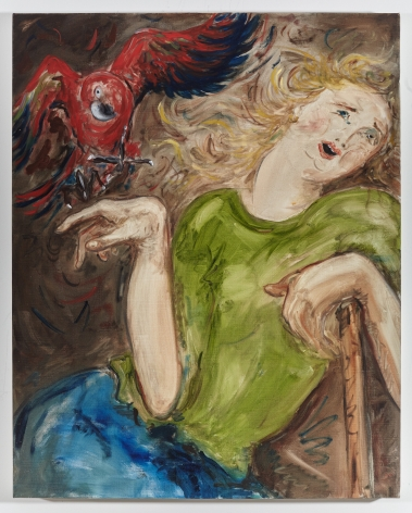 Tanya Merrill, Woman with Parrot