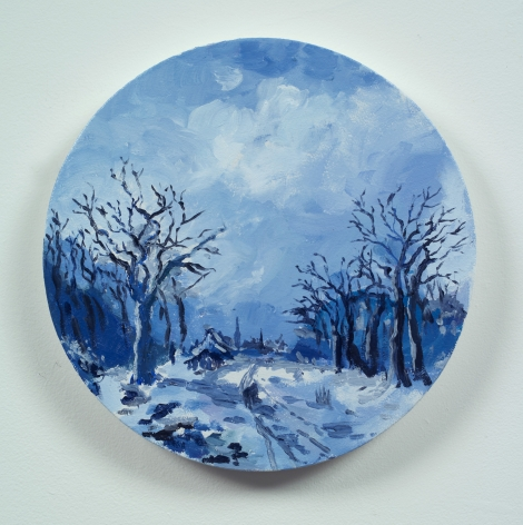 Karen Kilimnik, the winter delft landscape or -escaping through Poland and Russia, 2013