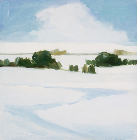 Maureen Gallace, Icy Hill (Christmas Card), 2003
