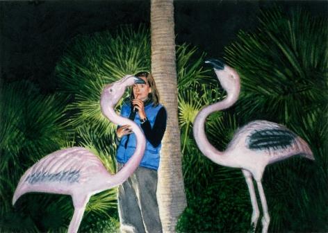Tim Gardner, Untitled (Val & Flamingos), 2000