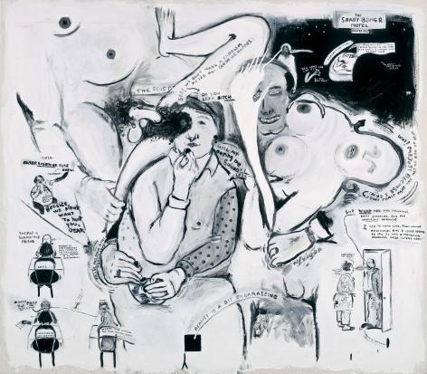 Sue Williams, In Denial of the Shady Boner Motel, 1992