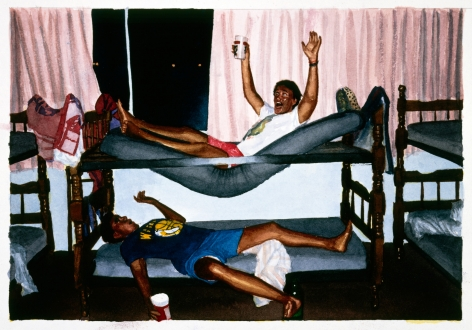 Tim Gardner, Untitled (Nick & Lars in bunkbed, Cancun), 1999