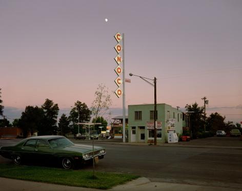 Stephen Shore, Conoco Sign, Center Street, Kanab, Utah, August 9, 1973