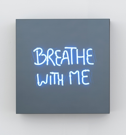 Jeppe Hein, BREATHE WITH ME (handwritten), 2018