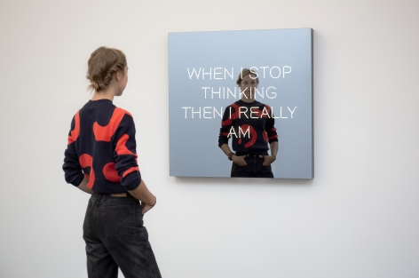 Jeppe Hein, WHEN I STOP THINKING THEN I REALLY AM, 2018