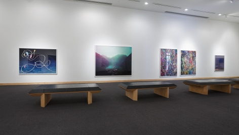 Installation view: Contemporary Photography Forum: Daniel Gordon, Paul Kneale, Florian Maier-Aichen,  Boca Raton Museum of Art, 2017