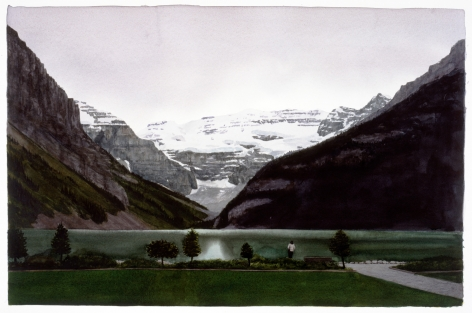 Tim Gardner, Untitled (Woman by the Shore: Lake Louise), 2002