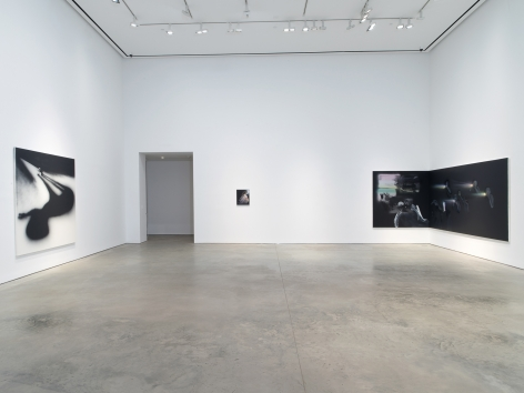 Installation view: Tala Madani, Corner Projections, 303 Gallery, New York, 2018