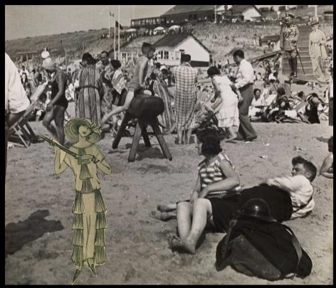 The Kaiser on Zandvoort Beach,  Erwin Blumenfeld, 1930-32