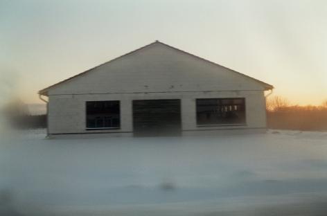 Winterarbeiten, Haus im Schnee, 2002